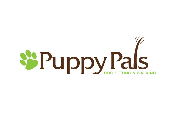 Puppy Pals Dog Sitting & Walking Logo Design