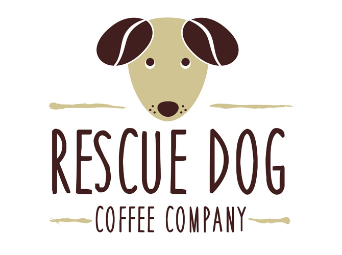 Rescue Dog Coffee Company Logo Design