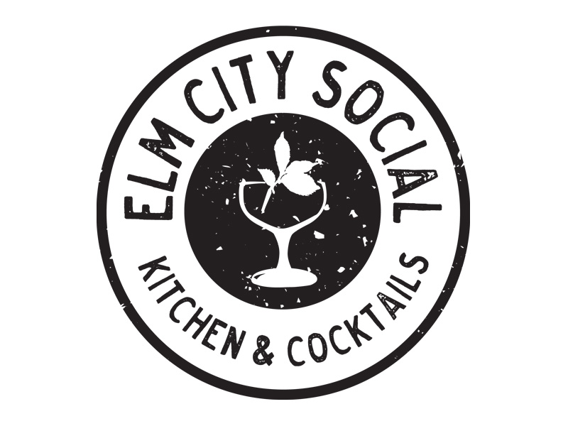 Elm City Social Kitchen & Cocktails Logo Design